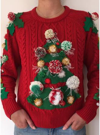 婦人向け ケーブル編み ダサいクリスマスセーター