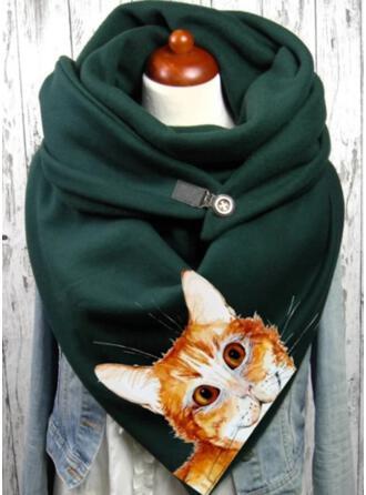 動物柄 暖かいです/柔らかい スカーフ