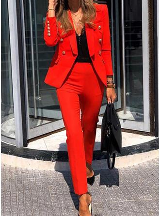 Solid Elegant Årgång Kostymer