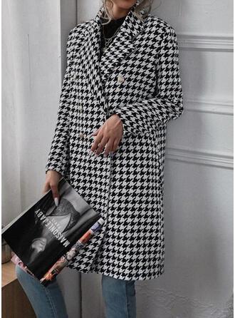 長袖 印刷 ウールコート