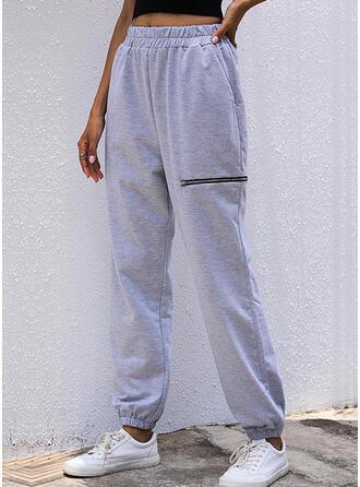 Pevný Dlouho Neformální patch Kalhoty