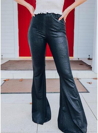 Sólido Largo Casual Clásico Pantalones