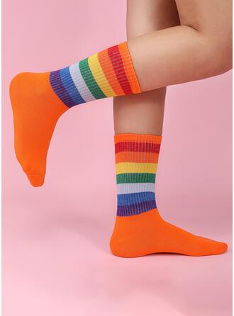Colorido Cómodo/De las mujeres/Sencillo Estilo Calcetines