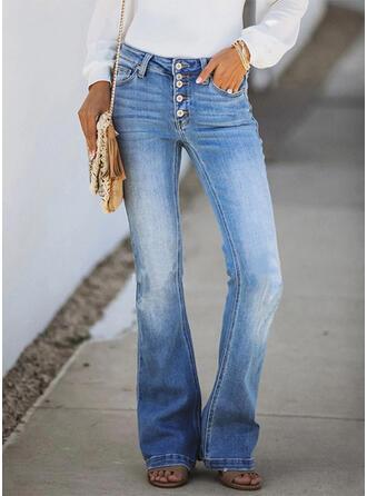 Froncé Élégante Plaine Jeans