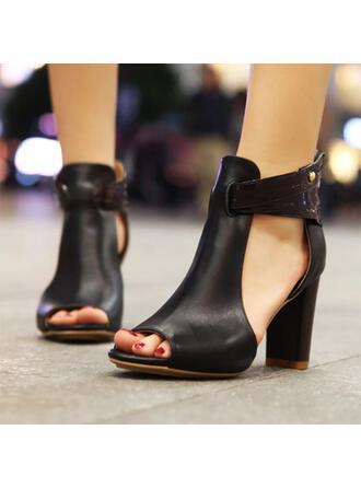 Femmes Similicuir Talon bottier Sandales chaussures