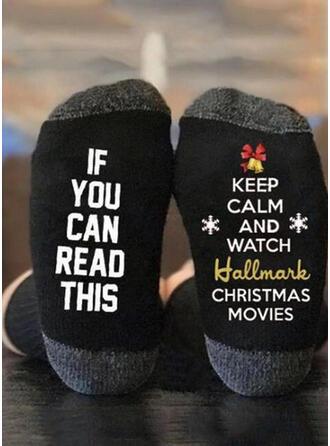 Levél/Minta Ανετος/Χριστούγεννα/Κάλτσες πληρώματος/Για άνδρες και γυναίκες Κάλτσες