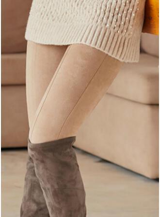 Solid Lang Casual Plus størrelse Bukser