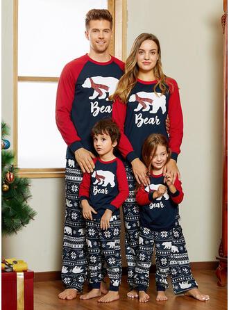 Oso Carta Impresión Familia a juego Pijamas De Navidad