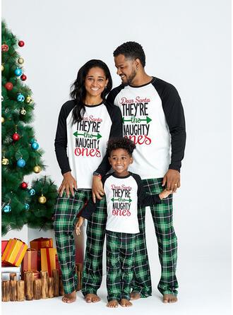 グリッド 文字 印刷 マッチングファミリー クリスマスパジャマ