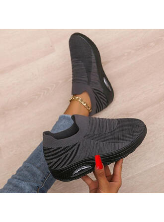 De mujer Tela Malla Tacón plano Planos Zapatillas con Color de empalme zapatos