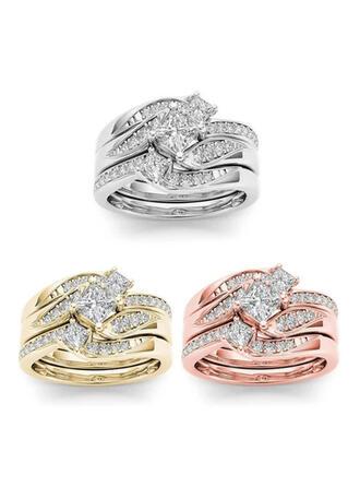 Hottest Díszes Ötvözet Cirkon -Val Cirkon Gyűrűk