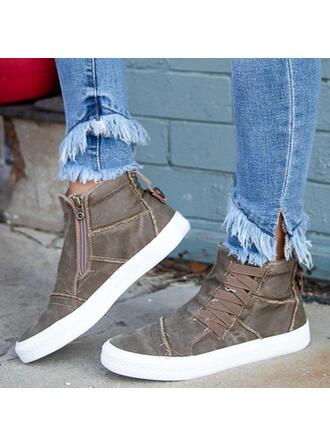 De mujer Juan Tacón plano Planos con Cordones Color sólido zapatos
