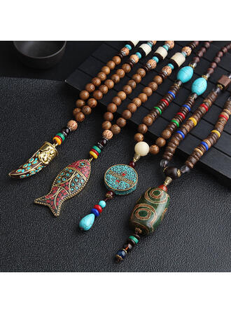gyönyörű Kedves Egzotikus Kerámiai -Val Gyanta nyakláncok