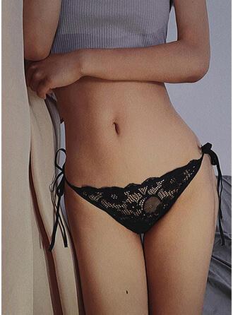 Krajka Jednobarevný Thong Kalhotky