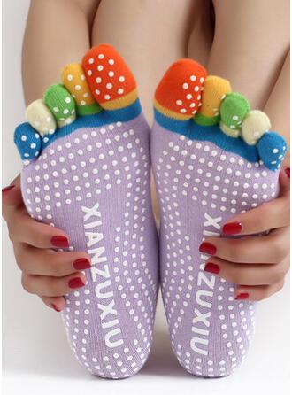 Polka Dots Confortable/aux femmes/Chaussettes Crew/Antidérapant/Doigt de pied Chaussettes