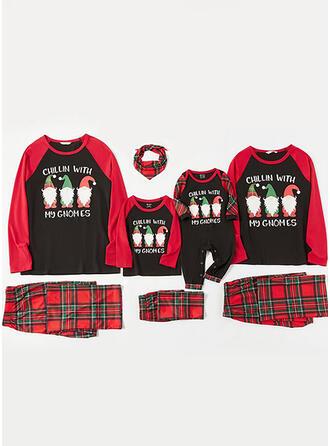 Santa claus Tela Escocesa Carta Familia a juego Pijamas De Navidad