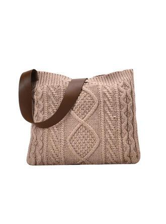 Elegant/Vintage/Böhmisk stil/Flätad Tygväskor/Crossbody Väskor/Axelrems väskor/Strandväskor/Hinkväskor/Handtagsväskor