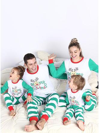 Venado Raya Dibujos animados Familia a juego Pijamas De Navidad
