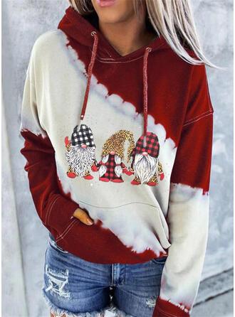 Impressão Colorido Leopardo Manga comprida Camisola de Natal