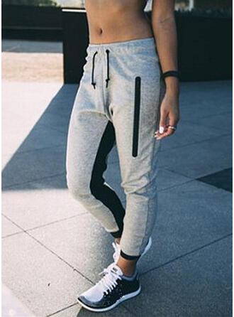 Shirred Drawstring Casual Sporty Pants