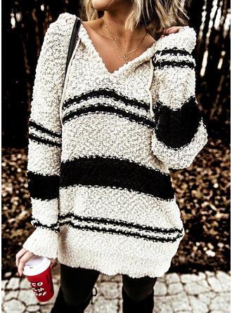 Prążek Bluza z kapturem Casual Swetry