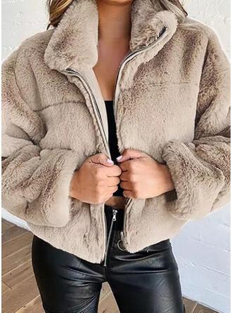 長袖 固体 ブレンドコート
