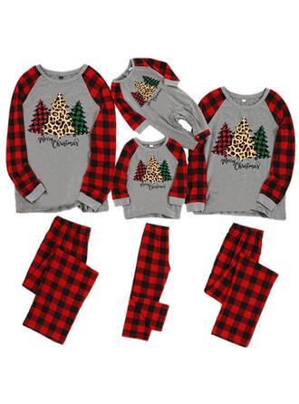 Tela Escocesa Carta Impresión Familia a juego Pijamas De Navidad