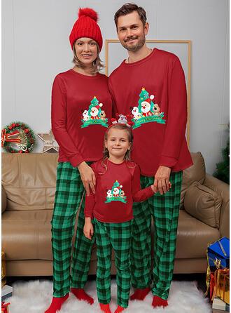 Jultomten Ren Pläd Matchande familj Jul Pyjamas
