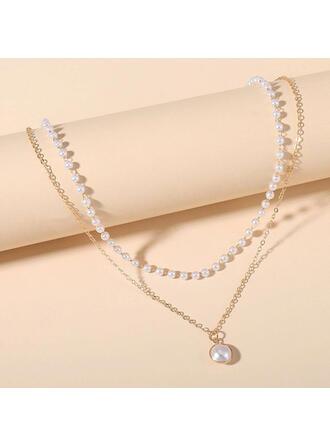 Elegant Legering med Fauxen Pärla Kvinnor Halsband 1 st