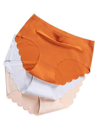 Colore solido Floreale Slip Mutande