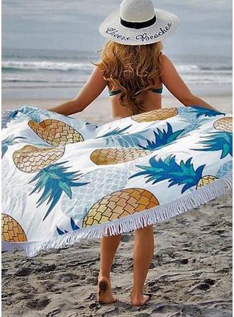 Tassel/Imprimé rond/Résistant à la poussière/Doux Pour La Peau serviette de plage
