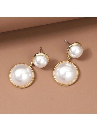 Klassisk stil Legering Fauxen Pärla med Fauxen Pärla Kvinnor örhängen 2 st