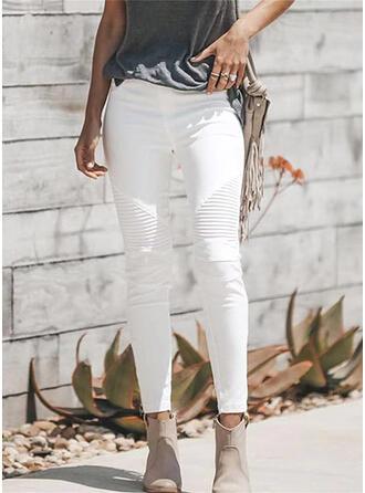 Pevný Dlouho Neformální Kalhoty