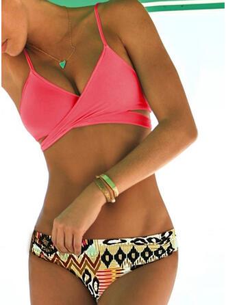 Impresión Correa Sexy Bikinis Trajes de baño