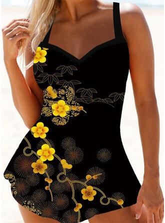 Stampa Cinghia Sexy Boho Costumi da Bagno Donna Costumi Da Bagno