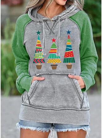 Print fickor Långa ärmar Jultröja