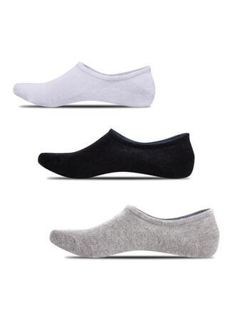 Solid Color Skridsikker/No Show Socks/Unisex Sokker (Sæt med 5 par)