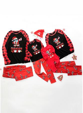 Jultomten Pläd Brev Matchande familj Jul Pyjamas