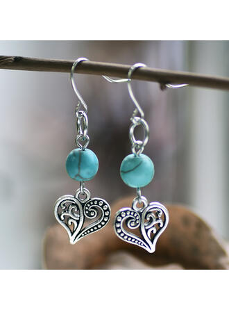 Charming Fancy Alloy Imitation Turquoise Earrings