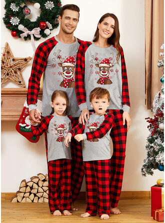 Renne Plaid Tenue Familiale Assortie Pyjama De Noël