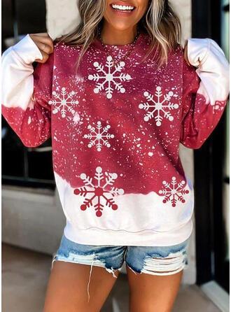 Wydrukować Στρογγυλός λαιμός Μακρυμάνικο Χριστουγεννιάτικο μπλουζάκι