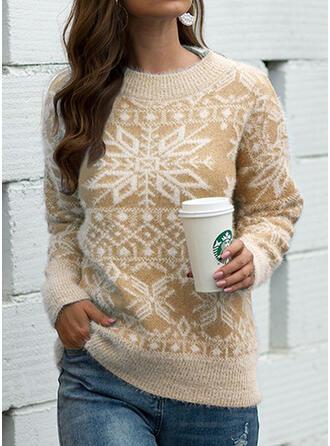 De mujer Algodón Impresión Suéter feo de navidad