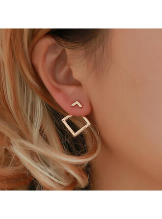 Stylish Simple Alloy Earrings (Set of 2)