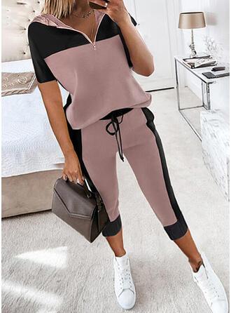 Color Block Casual sweatshirts & 2-delt tøj sæt