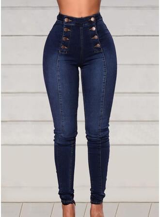 lappverk Extra stor storlek Elegant Sexig Denim & Jeans