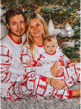 Deer Letter Print Family Matching Christmas Pajamas