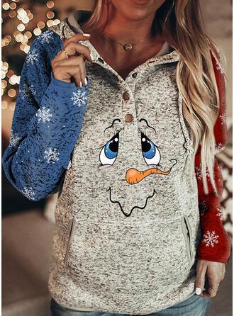 Impressão Manga comprida Camisola de Natal
