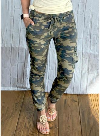 Camuflaje Largo Casual Tallas Grande Bolsillo cordraystring Pantalones
