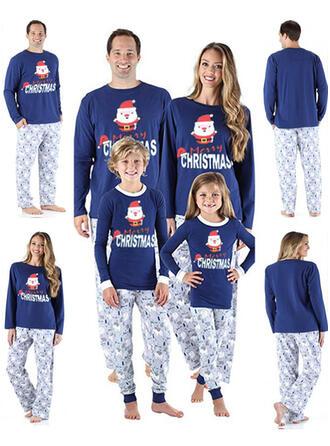 Santa claus Carta Dibujos animados Familia a juego Pijamas De Navidad