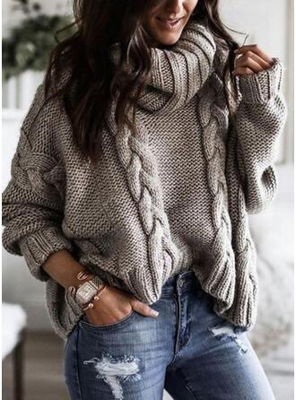Solid Tricot Cablu Bucată tricotată Helancă Comod Kazaklar